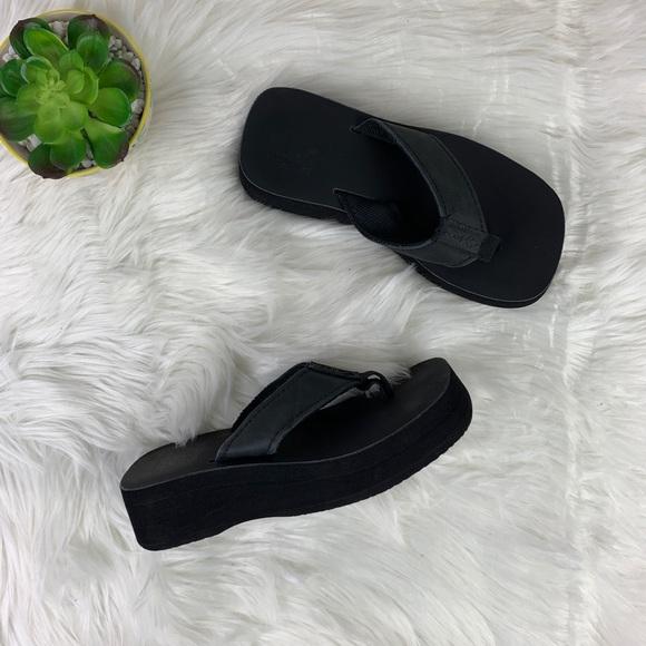 Reef Shoes | Reef Black Platform Thong